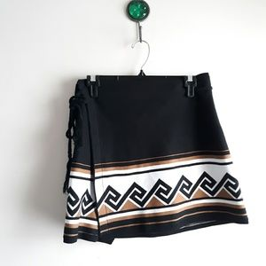 Talula Black Wrap Mini Skirt / Size S